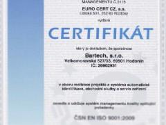 Certifikáty a ocenění