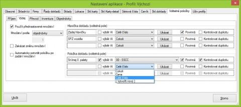 Synchronizator - VolPole - Výdej - příklad 2